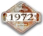 Rusty Patina Aged Vintage Edition  Year 1972 Design Vinyl Car sticker decal  85x70mm